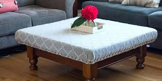 how to make an ottoman out of a coffee table how to turn your old coffee