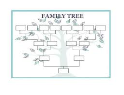 Family Tree Chart Template 9 Free Word Excel Format Editable