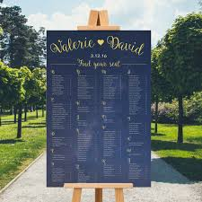 Alphabetical Wedding Seating Chart Sign Guest List Seat