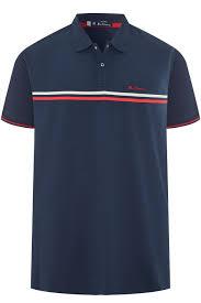 Ben Sherman Navy Retro Polo Shirt