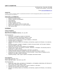 Gallery Of Detective Resume