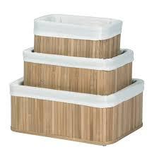 bamboo storage baskets natural