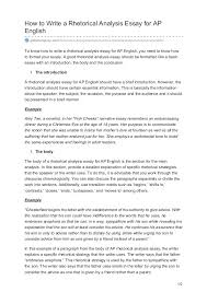globalcompose com how to write a rhetorical analysis essay for ap eng  how to write a rhetorical analysis essay for ap english globalcompose com homework the conclusion the conclusion should