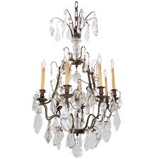 french early 20th century brass crystal chandelier