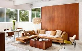 charming walnut wood panel wall living room decorating ideas paneling