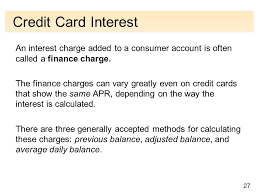 how credit cards interest calculated the nature of financial management copyright cengage learning all