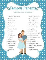 Baby Shower Games For Boys Amazing Chic Famous Baby Shower Games ...