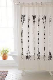 4040 Locust Black + White Arrows Shower Curtain