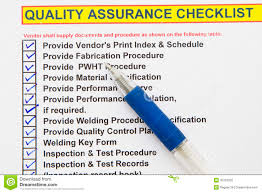 Design Quality Assurance Plan Quality Assurance Checklist Stock Photo Image Of