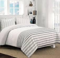 nicole miller seerer textured king duvet cover set 3pc ash grey white gray nicolemiller