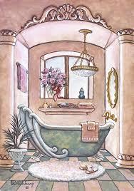 vintage bathtub ii one of janet kruskamp s original oil paintings