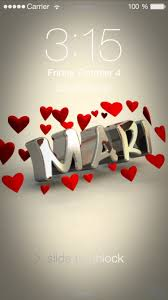 preview of in love for name mari