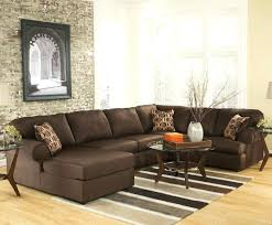Large  Tan Leather Sectional T4