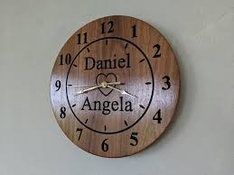 5th anniversary wooden wall clock wedding gift engagement present bkproducts madeit com au
