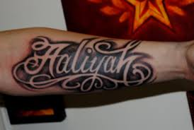 Custom Lettering Tattoos in New York City by The Red Parlour Tattoo Woodside Queens NY NY NYC Tattoos 2 JPG