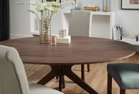 serene waltham walnut oval fixed top dining table 180cm