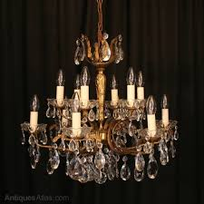 an italian gilded 12 light antique chandelier