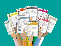 Hands Holding Cv Resume Documents Human Resources Management