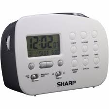 details about sharp spc570 ceiling time projection alarm clock with 9 diffe nature sounds