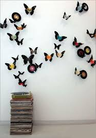 Small Picture Handmade Butterflies Decorations on Walls Paper Craft Ideas
