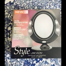 style by revlon battery operated make up mirror