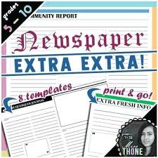 Extra Extra Newspaper Template Extra Newspaper Template Simple Also Unique New Form Picture