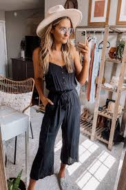 Audrey Black Jumpsuit in 2020 | Fashion, Summer outfits, Cute outfits