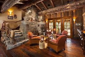 Log cabin interiors designs Homes Luxury Rustic Mountain View Log Home Idesignarch Old West Inspired Luxury Rustic Log Cabin In Big Sky Montana