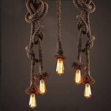 vintage retro creative rope pendant lights loft restaurant bedroom dining room hanging lamp hand knitted hemp
