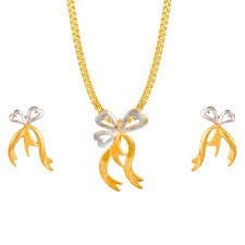 gold pendant set ajw nk pd 051