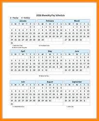 Biweekly Payroll Calendar Template Free Bi Monthly – Helenamontana.info