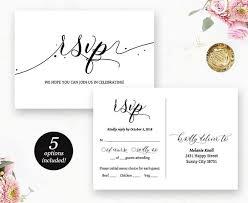 Rsvp Postcard Printable Wedding Rsvp Card Wedding Response