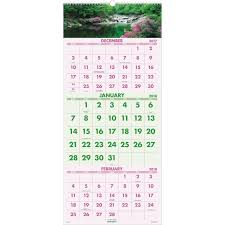 At A Glance 3 Month Calendar At A Glance Scenic 3 Months Per Page Panoramic Wall Calendar Ld