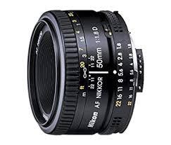 <b>Nikon 50mm Nikkor F/1.8D AF</b> Prime Lens for DSLR Camera ...