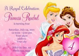 Free Birthday Party Invitation Templates | Drevio Invitations Design Free Disney Princess Birthday Party Invitation Templates