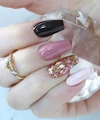 Pink Nail Art Design So Pretty Black White Pink And Glitter Nail Art Design For