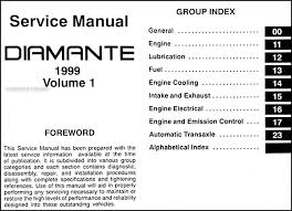 1999 mitsubishi diamante repair shop manual set original covers all 1999 mitsubishi diamante models including luxury these books measure 8 5 x 11 and are