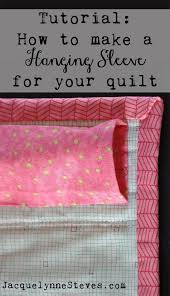 How to Make a Hanging Sleeve for a Quilt - Jacquelynne Steves & How to Make a Hanging Sleeve for a Quilt Adamdwight.com