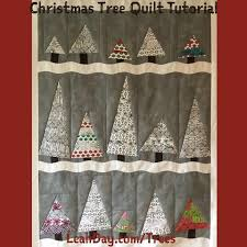 Wonky Christmas Trees! Free Quilt Pattern by Leah Day | LeahDay.com & Christmas Tree Quilt Adamdwight.com