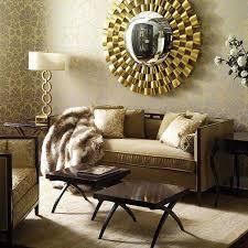 living room decorating ideas stunning golden round decorative mirror