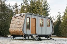 Small Picture This Modern Prefab Hut on Wheels has all the Cabin Aesthetics