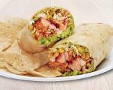 alaska salmon and chipotle wrap