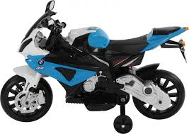 bmw 1000rr kids ride on electric motorbike 12v blue outdoor toys