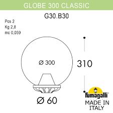 <b>Светильник</b> уличный <b>FUMAGALLI GLOBE 300</b> Classic G30.B30 ...