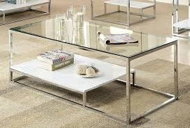 furniture of america gacelle contemporary glass top