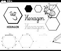 Zeshoek Basis Geometrische Vormen Kleurplaat Vector Premium Download