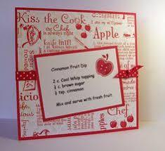 cinnamon fruit dip recipe card cookbook ideas cookbook recipes homemade recipe books diy