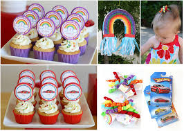 Cars Party Decorations Party Themes Rainbow Party Car Party Thoughtfully Simple