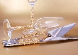 GOLD Wedding Cake Cutting Set Champagne by Beadz2Pleaz on Zibbet