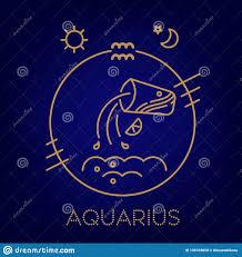 знак логотип татуировка или иллюстрация зодиака водолея